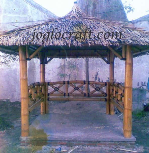 Gazebo bambu jc15tl handycraft - Pergola bambu ...