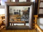 Cermin Bambu Kotak Kerok