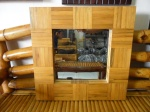 Cermin Bambu Kotak