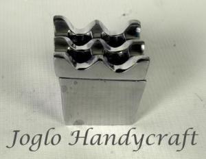 Kerajinan Aluminium Asbak Kotak Lubang
